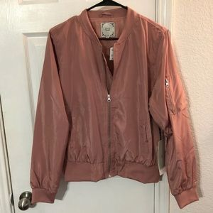 Pink bomber jacket XL